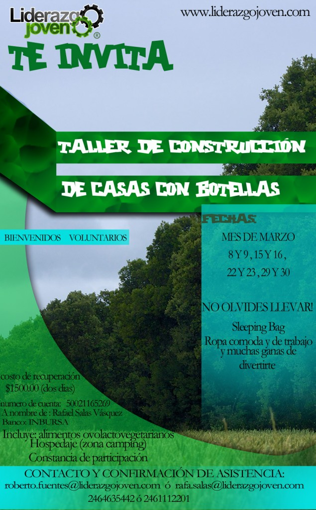 taller de construccion con botellas